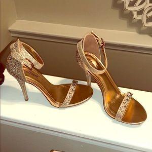Shoes - Rose Gold Formal Evening Heels
